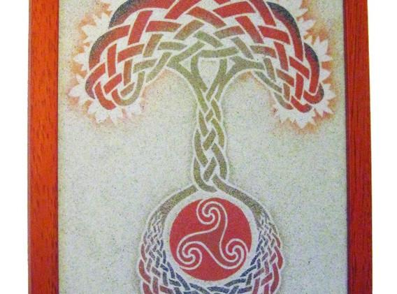Arbre de vie celtique Orange
