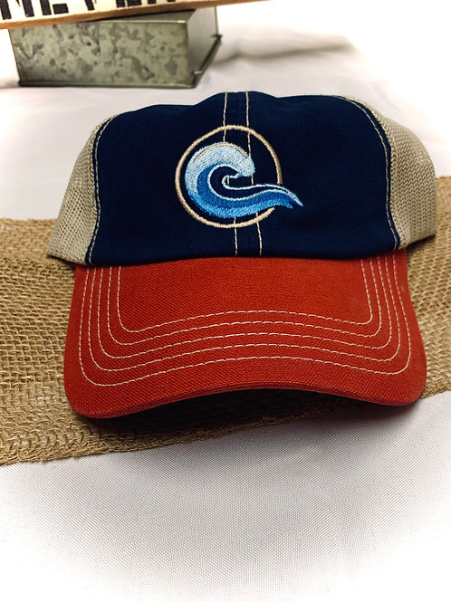 Coastal RED WHITE& BLUE Logo hat