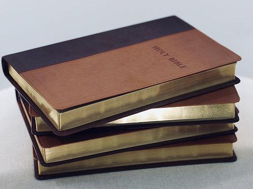 Large Print Slimline Leather Look (Lucas' Bible)