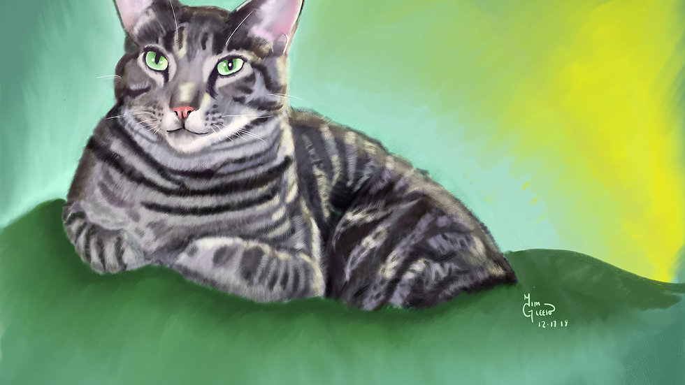 Customized Digital Pet Portrait