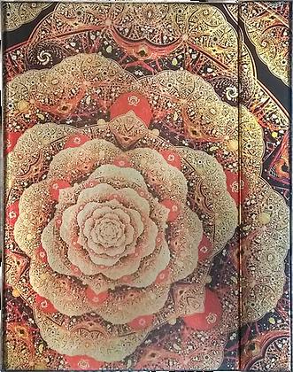 Metallic Paper Covered Journal - Golden Rose