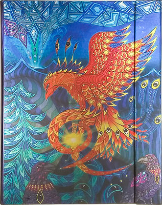 Metallic Paper Covered Journal - The Phoenix