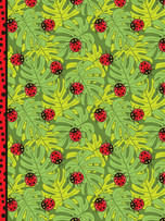 Mid Sized Journal - Ladybug & Leaves