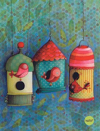 Soft Cover Journal - Bird House