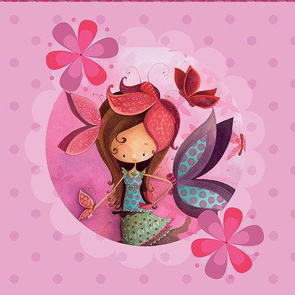 Napkin - Purple Butterfly