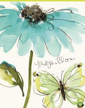 Rec. Memo Block - Butterfly Flower
