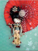 Quad Ruled Notebook - Geisha