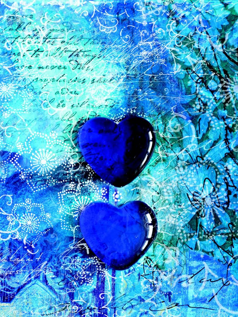 Lock Journal - Blue Hearts