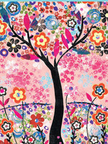 Rec. Memo Block - Flower Tree