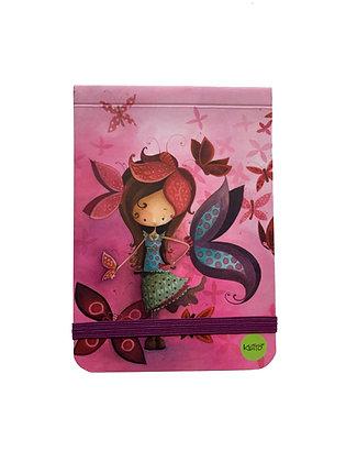 Pocket Note - Purple Butterfly