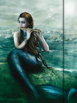 Metallic Paper Covered Journal - Mermaid Song