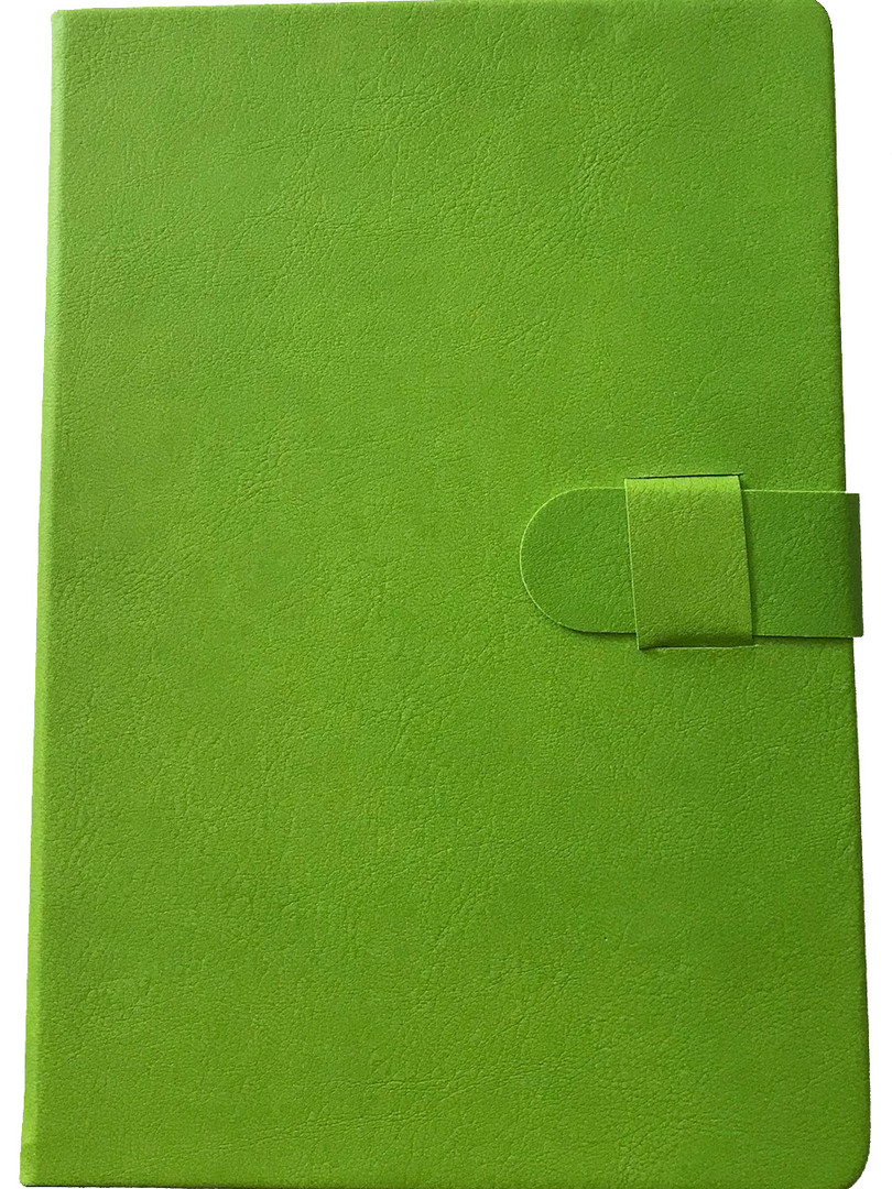 Faux Leather Journal - Lime Green