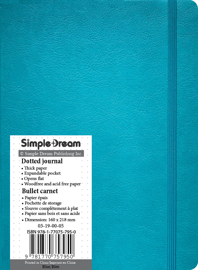 Faux Leather Dotted Journal - Blue