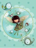 Napkin - Bird Fairy