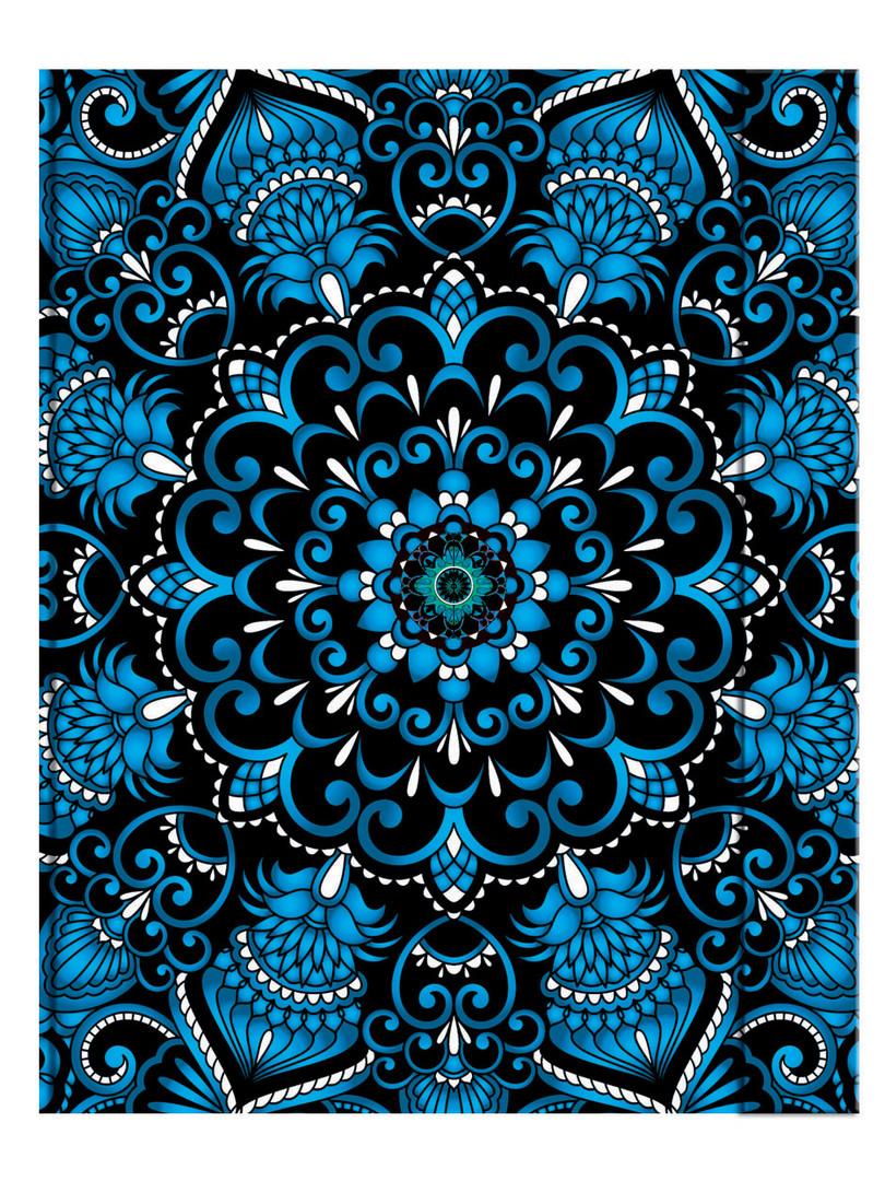 Metallic Paper Covered Journal - Blue Dream