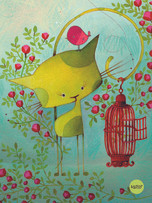 Soft Cover Journal - Cat and Bird
