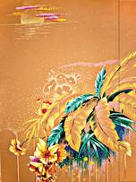 Metallic Paper Covered Journal - Bouquet