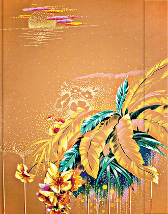 Metallic Paper Covered Journal - Bouquet