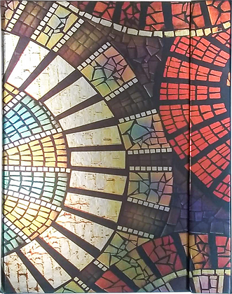 Metallic Paper Covered Journal - Mosaic