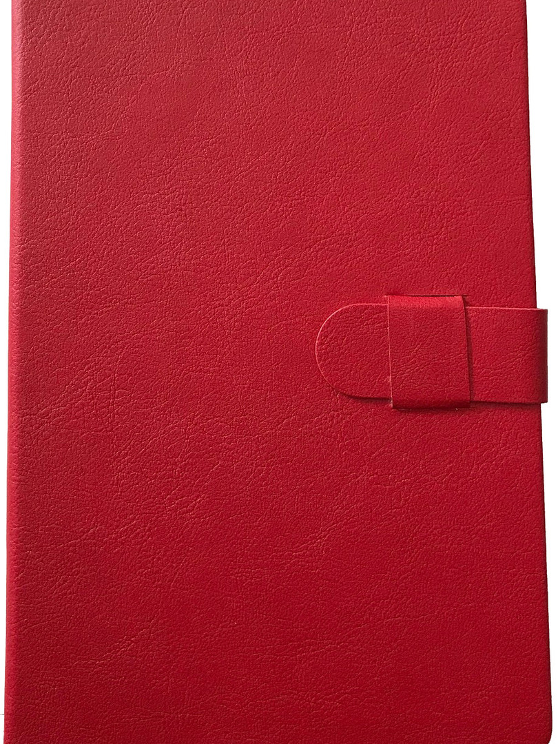 Faux Leather Journal - Red