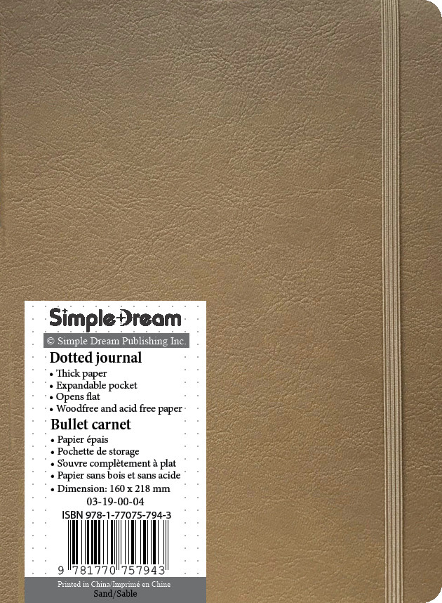 Faux Leather Dotted Journal - Tan