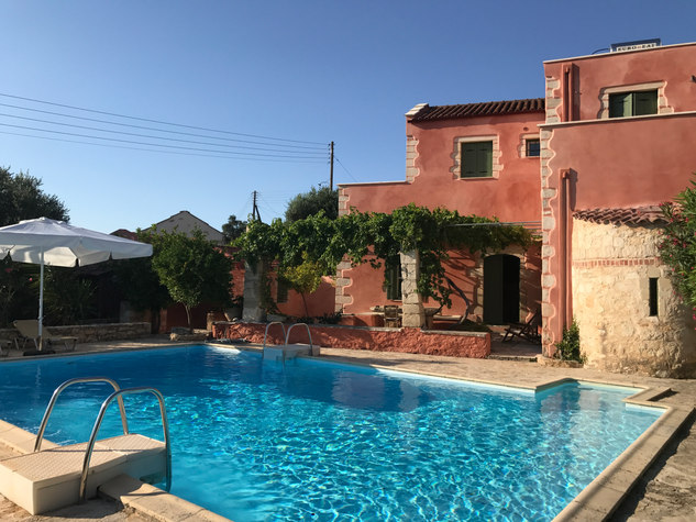 The renovated house with pool