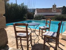Greek scenery at the pool