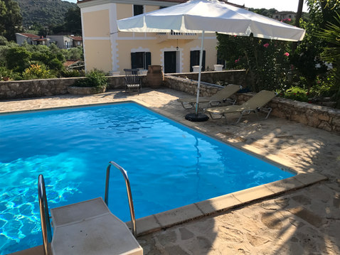 The pool with umbrella