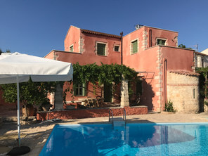 The villa with large private pool
