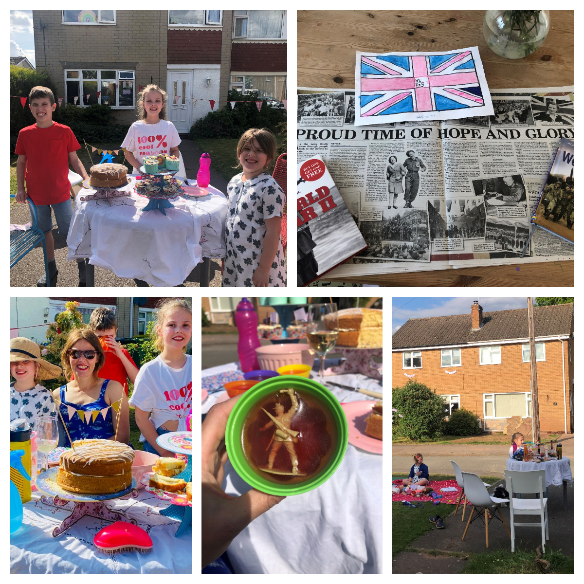 Wallace family VE Day