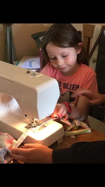 Betsy Baynham (Y3) sewing