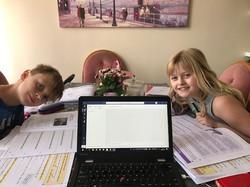 Poppy (Y3) & Blake (Y4) Crooke working