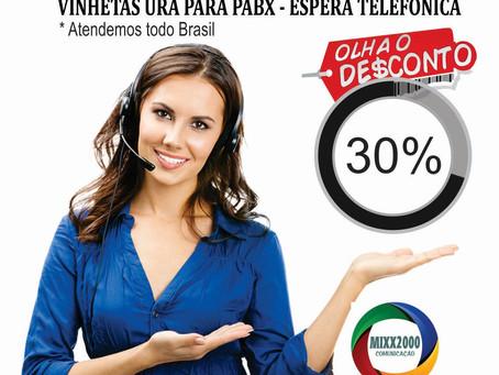 Renove as Gravacoes de sua Espera Telefônica, Descontaço de 30 por cento