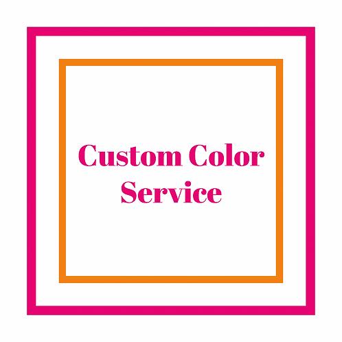 Custom Color Service