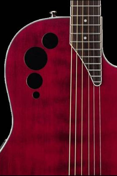 OVATION APPLAUSE CHITARRA ELETTROACUSTICA AE44II MID CUTAWAY RUBY RED