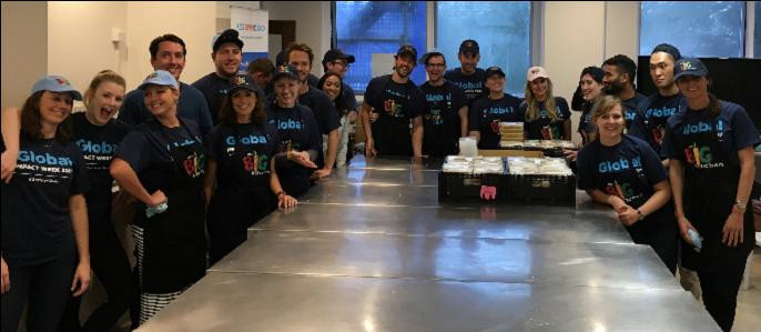 Healthy meals for the community prepared by the team from CEB Global