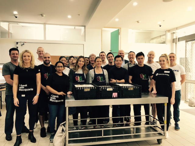 Macquarie Bank Helps in the Kitchen