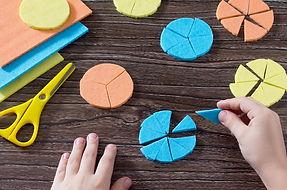 circulos-em-papel-usados-para-representa