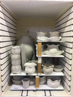 Loaded Bisque Kiln