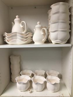 Bisqueware on Shelf