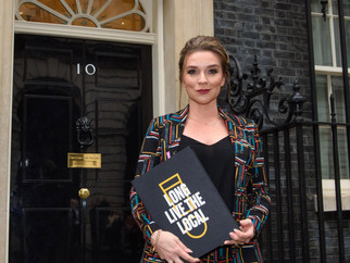Candice Brown Delivers Petition to Downing Street