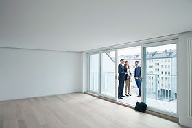 Real Estate Agent Showing an Apartment