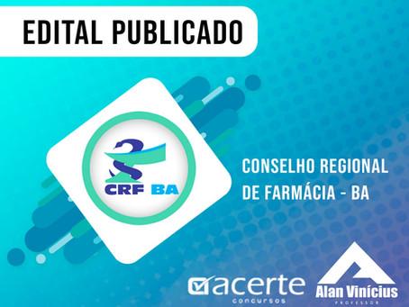 CONFIRA: NOVO EDITAL CONCURSO CRF BA 2019!