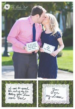 Engagement Portraits. Collage.