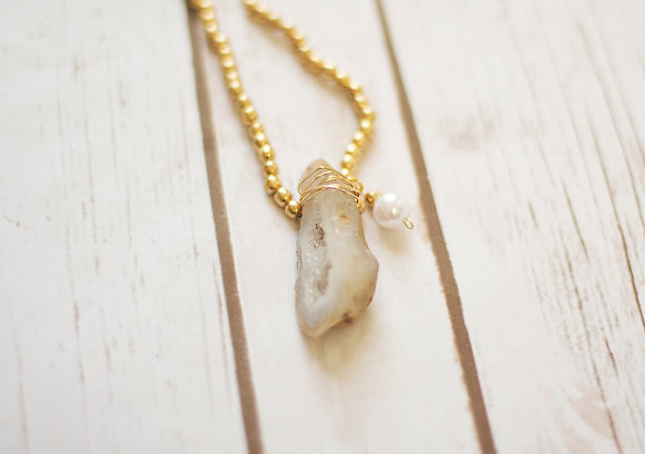 Geode Rock Necklace