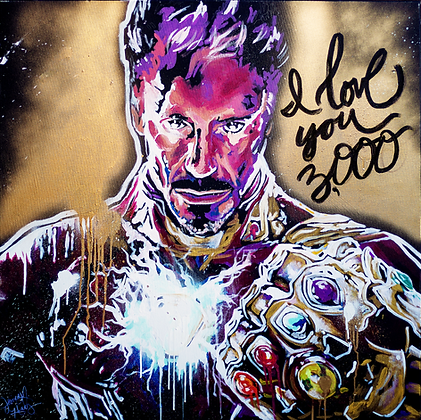 Iron Man Speedpainting Avengers Endgame 24X36 inches