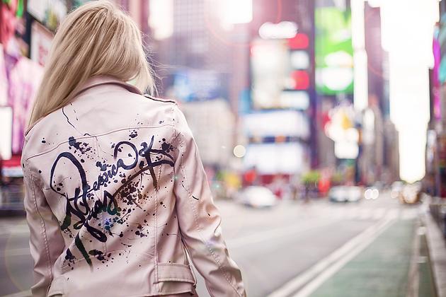 Jessica K. Haas leather jacket