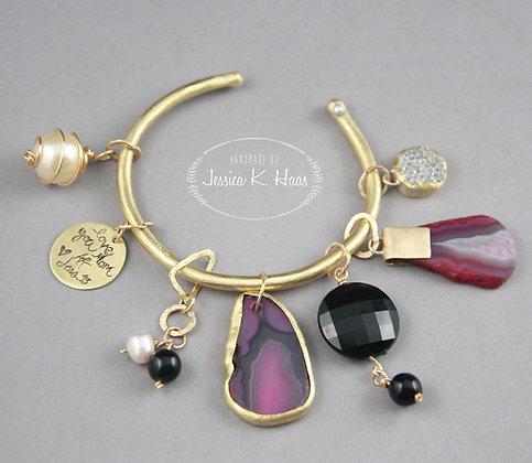 Customizable Handmade Charm Bracelet
