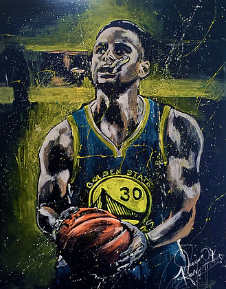 #Artismysport Art : The Original Steph Curry Painting