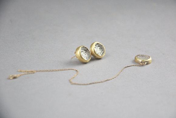 Druzy Stone Necklace & Earring set